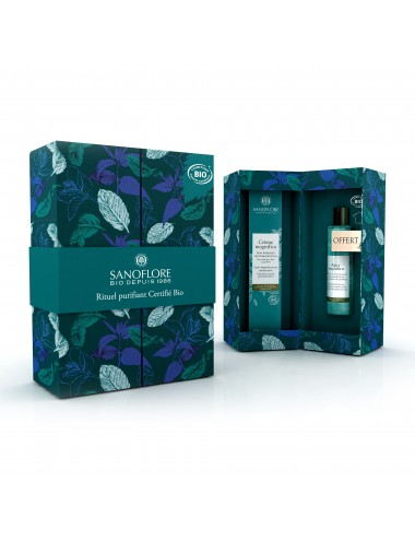Sanoflore Coffret cadeau Crème magnifica anti-imperfections 40ml + mini Aqua magnifica 50ml offerte Sanoflore
