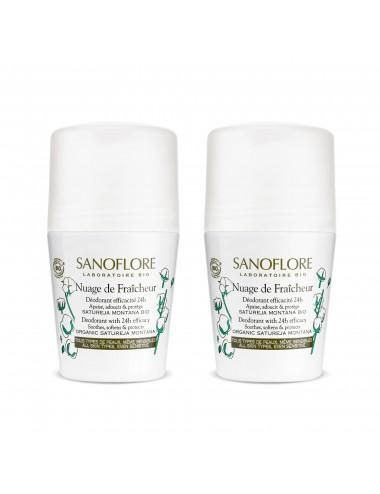 Sanoflore LOT*2 Nuage de fraîcheur Déodorant sans alcool efficacité 24h 2 x 50ml