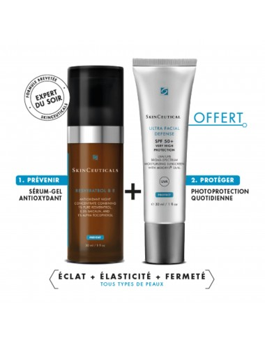 Skinceuticals Bouclier Intégral NUIT Resveratrol 30ml + ULTRA FACIAL DEFENSE 30ml