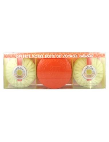 Roger&Gallet Coffret Savons Parfumés Fleur d'Osmanthus + 1 boîte voyage iconique offerte