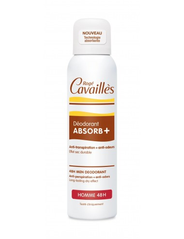 Rogé Cavaillès Déo Absorb+ Efficacite 48H Homme Spray 150ml
