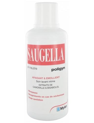 Saugella Poligyn Apaisant et Emollient Soin Lavant Intime 500 ml