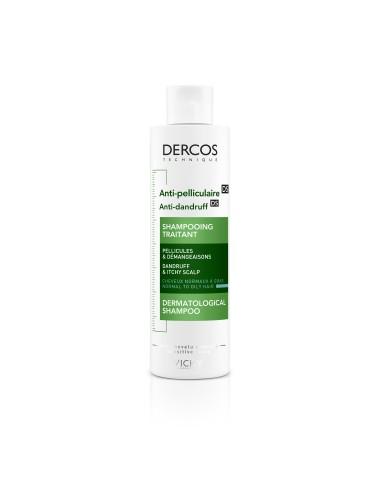 Vichy Dercos Technique Antipelliculaire DS Shampooing traitant pellicules & démangeaisons cheveux normaux à gras