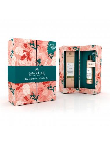 Sanoflore Coffret cadeau Crème Rosa fresca riche 40ml + mini Aqua rosa 50ml offerte Sanoflore