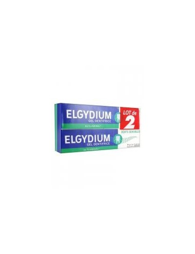 Elgydium Gel Dentifrice Dents Sensibles Lot de 2 x 75ml