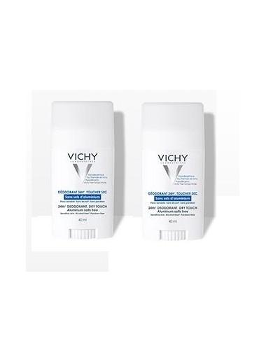 Vichy LOT*2 Déodorant 24H actif anti-odeur d'origine naturelle - Stick
