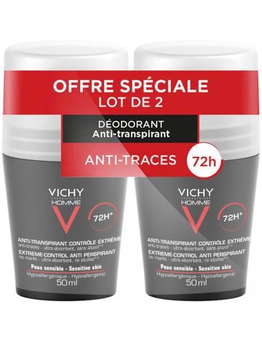 Vichy LOT*2 Homme Déodorant bille 72H