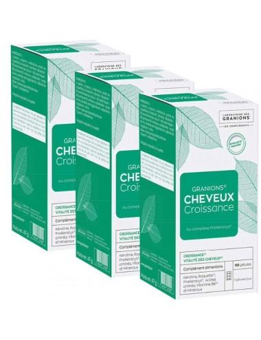 Granions Cheveux Croissant 3x90 Gélules