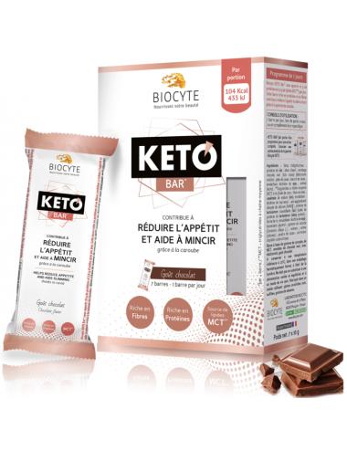 Biocyte Keto Bar Satiété & perte de poids 7 Barres x 35g