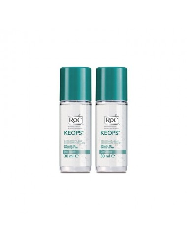 Roc keops déodorant bille 30ml lot de deux