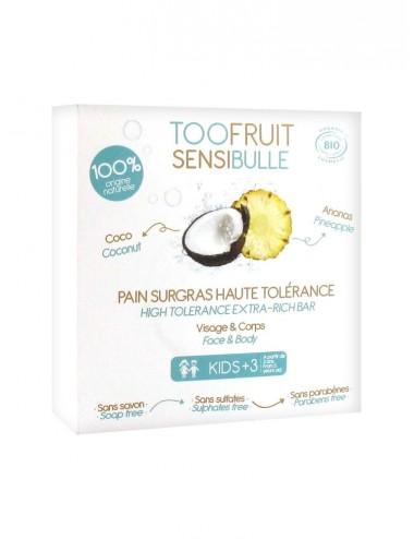 Toofruit Sensibulle Pain Dermatologique Ananas coco 85 g