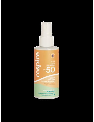 Respire Spray solaire naturel & minéral SPF 50 120 ml