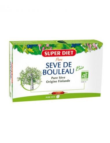 Super Diet sève de bouleau bio 20 ampoules