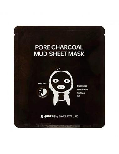 JJ Young Masque en tissu purifiant Charbon et Argile
