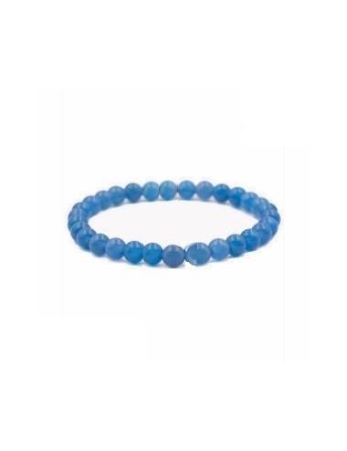 Bracelet Agathe Bleu Pierres Boules 8mm