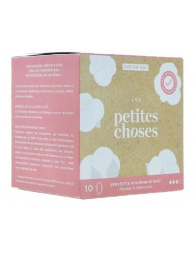 Les Petites Choses Serviettes Hygiéniques Nuit Coton Bio x10