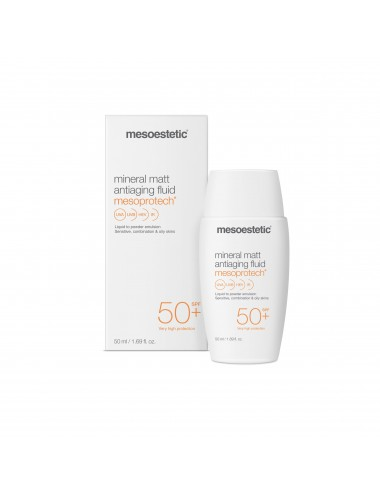 Mesoestetic Mesoprotech Mineral Matt Antiaging Fluid SPF 50 50ml
