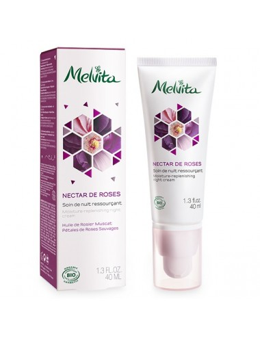 Melvita Nectar de Roses Soin de Nuit Ressourçant Bio 40 ml