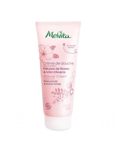 Melvita Crème de Douche Pétales de Rose & Miel d'Acacia 200 ml