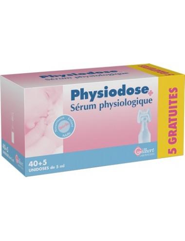Phy sérum physiologique 40 unidoses plus 5 gratuites