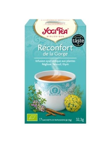 Yogi Tea Infusions Bio Réconfort de la Gorge 17 Sachets