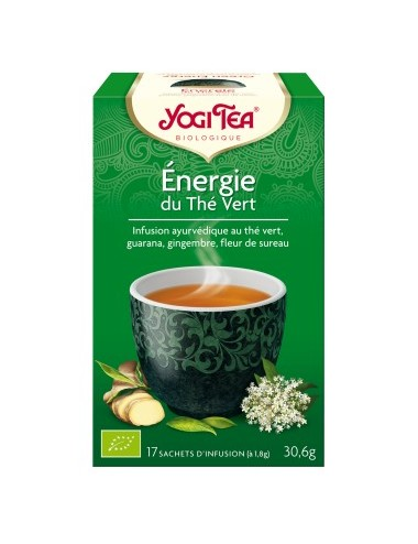 Yogi Tea Infusions Bio Énergie du Thé Vert 17 Sachets