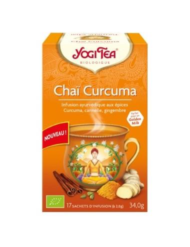 Yogi Tea Infusions Bio Chaï Curcuma 17 Sachets