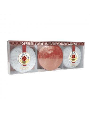 Roger&Gallet Coffret Savons Parfumés Jean-Marie Farina + 1 boîte voyage iconique offerte !