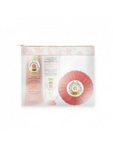Roger&Gallet Gingembre Rouge Crème main Gel hydroalcoolique Savon Trousse 2x30ml 100g