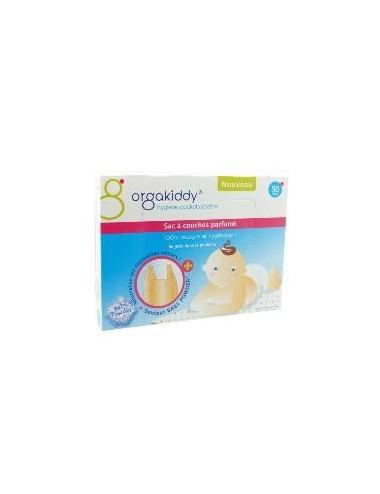 Orgakiddy sac à couches parfumé talc X50