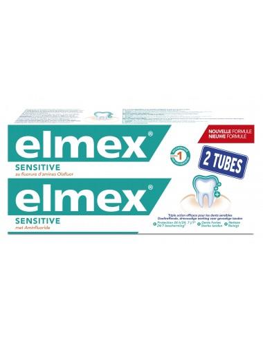 Elmex Lot Dentifrice Sensitive Dents Sensibles - 2x75 ml