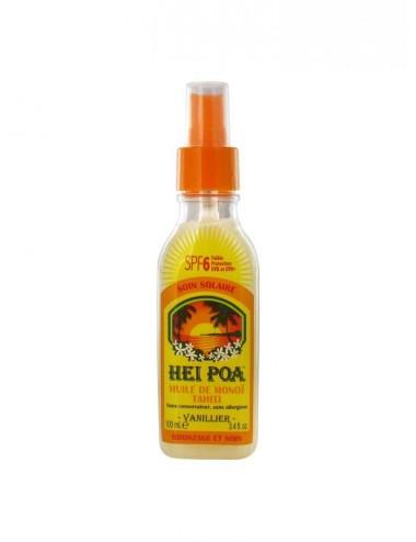 Hei Poa Huile de Monoï Tahiti Parfum Vanillier SPF 6 100 ml