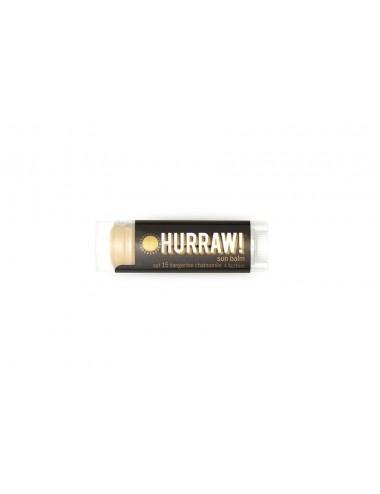 Hurraw Baume à Lèvres Végan Solaire SPF15 4,3g