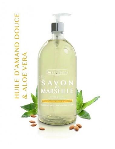 Beau Terra savon de Marseille Huile d'Amande Douce / Aloe Vera 1 L