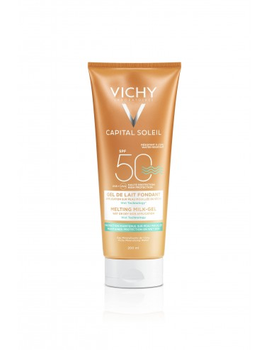 Vichy Capital Soleil Gel de lait fondant SPF50 Tube 200ml