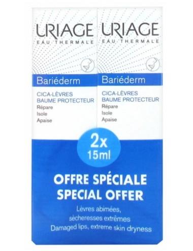 Uriage Bariéderm - Cica-Lèvres - Tube à embout biseauté 15ml - Lot de 2