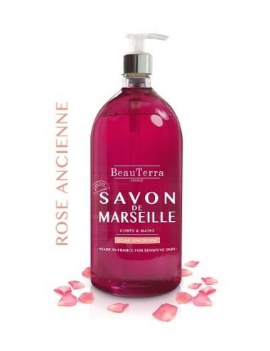 Beau Terra Savon de Marseille à la Rose Ancienne 1L
