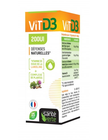 Santé Verte Vitamine D3 200Ui 15ml