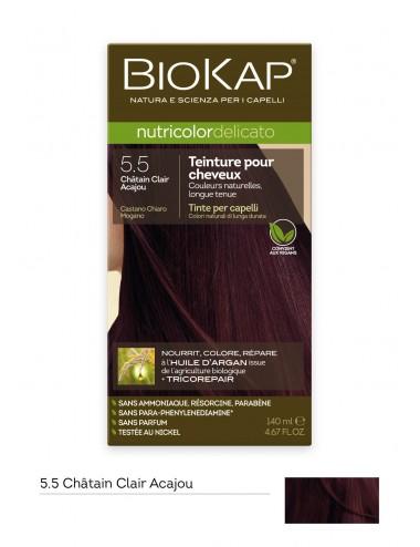 Biokap  Delicato 5.50 Châtain Clair Acajou 140 ml