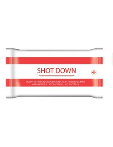 Shot Down Lingettes nettoyantes désinfectantes - Paquet de 40