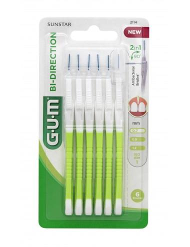 Gum Brossette interdentaire Bi-Direction 0,7 mm - Nouvelle Génération