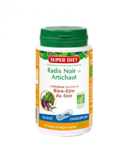 Super Diet radis noir artichaut gélules d'origine marine bio
