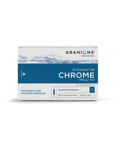 Granions de Chrome 200µg 30 ampoules