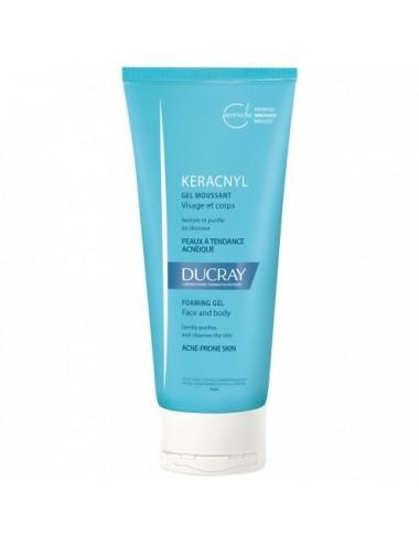 Ducray Kéracnyl gel moussant visage et corps 200ml