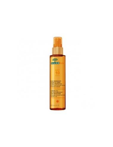 Nuxe Sun Huile Bronzante Faible Protection  SPF10 150ml