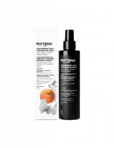 Phytema Positiv'hair Ultra Lotion anti cheveux blancs Cheuveux Chatain moyen a Foncé 150mL
