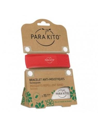 Parakito Bracelet Anti-moustiques Rouge