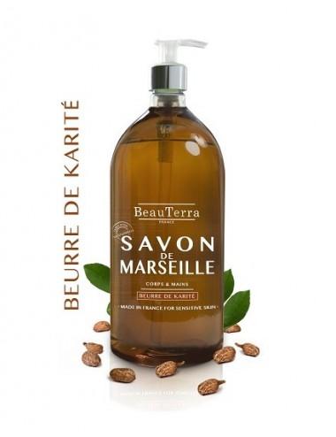 Beau Terra savon de Marseille au Beurre de Karité 300 ml