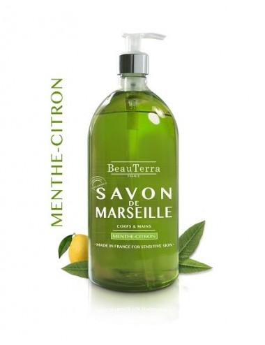 Beau Terra Savon de Marseille Menthe Citron 1 L
