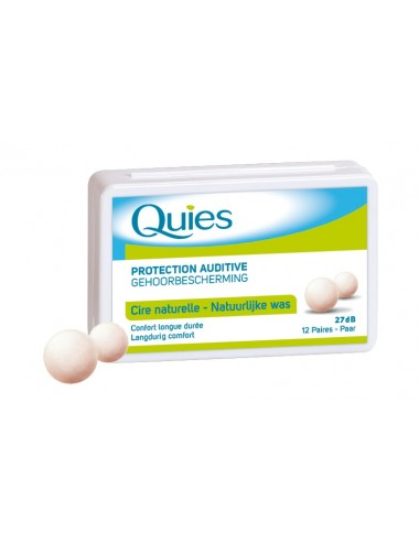 Quies Protections auditives en cire x24